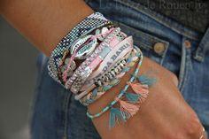 bracelets hipanema automne hiver 2013 2014 (4) Friendship Bracelet Patterns, Friendship Bracelets, Beaded Jewelry, Jewelry Bracelets, Jewellery, Bracelet Making, Jewelry Making, Ibiza Fashion, Bijoux Diy