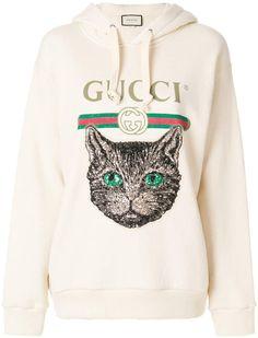 Gucci Mystic Cat logo hoodie - Gucci Hoodie - Ideas of Gucci Hoodie - Gucci Mystic Cat logo hoodie Marca Gucci, Gucci Hoodie, Cat Logo, Looks Chic, Fashion Brands, Sweatshirts, Men's Hoodies, Graphic Sweatshirt, Womens Fashion