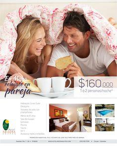 En #mayo disfruta los #finesdesemana con tu #pareja con nuestro plan del mes solo por $ 160.000 por noche. Brunch de bienvenida, Desayuno, Habitación junior suite, Spa, Gimnasio, Sauna y Piscina.  #cucuta #plandelmes