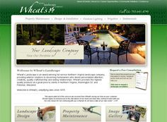 This elegant landscaping website does a great job in making you feel what you can have. Great site to cater to prospect customers.