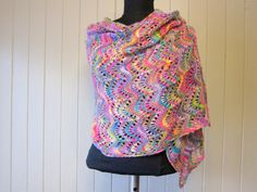 The Watercolor Shawl in Artyarn made by LesFousDArt. http://www.ravelry.com/projects/AnnieJeanson/watercolor-shawl