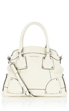 gorgeous stone white tote. I need a bag like this.