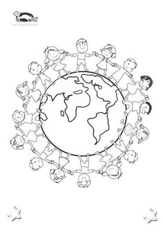 printables for kids Earth Day Coloring Pages, Colouring Pages, Coloring Books, Earth Day Crafts, World Crafts, Harmony Day, Art For Kids, Crafts For Kids, Around The World Theme