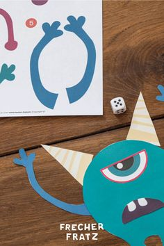 #Monster #Würfeln heißt dieses einfache, aber spaßige #Spiel für den ultimativen #Partyspaß. Mit unserer #Vorlage zum #Ausschneiden sorgst du für jede Menge #Fun auf dem #Monstergeburtstag und die #Kids vereinen #Geschick und #Fantasie miteinander. Monster Party, Kids Rugs, Symbols, Letters, Blog, Decor, Kid Birthdays, Kid Games, Invitations