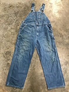 Men/'s Key Denim Dungarees Relaxed Fit Jeans NWT