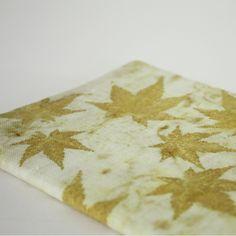lotta helleberg — japanese maple eco printed notebook