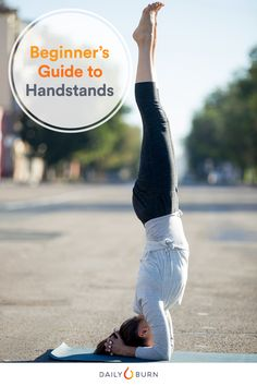 """Ready to try your hand at handstands? Yoga expert Briohny Smyth breaks down how to do a handstand in this """"yoga for beginners"""" video tutorial."""