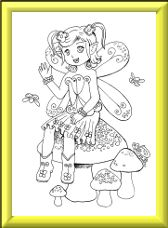 Buttercup fantasy fairy digi stamp