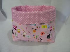 Fabric Basket... with link to the free tutorial ~ Threading My Way