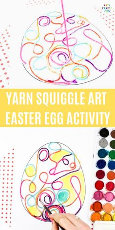 Yarn Squiggle Art Easter Egg Activity Yarn Squiggle Art Easter Egg Activity Growing a Jeweled Rose play recipes kids crafts science slime 038 more … – Sweater Yarn Crafts For Kids, Easter Arts And Crafts, Easter Activities For Kids, Easter Crafts For Kids, Easter Ideas, Bunny Crafts, Easter Decor, Easy Crafts, Easter Egg Template