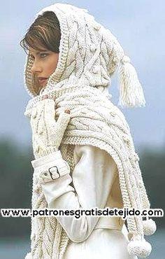 bufanda con capucha                                                                                                                                                                                 Más