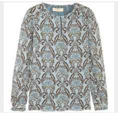 Tory burch silk printed tunic Printed silk tunic Tory Burch Tops Tunics