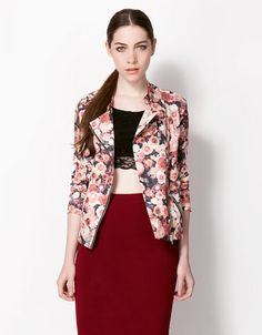 Bershka España - Cazadora Bershka flores - flowered jacket