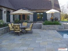 Comapring to all other ntaurl stones Slatestone Pavers are mrore in trenidng styles and we can find many types and their installations at Stone Top Inc Slate Pavers, Slate Patio, Patio Wall, Concrete Pavers, Backyard Paradise, Backyard Retreat, Backyard Patio, Natural Stone Pavers, Paving Stones