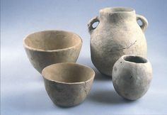 Pottery. Sha'ar Hagolan, Israel 7th Millenium BC. Levant Neolithic Period. Metropolitan Museum of Art, NYC. Wikipedia