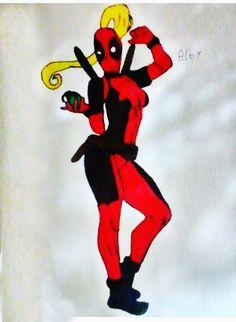 Dibujando a Lady Deadpool