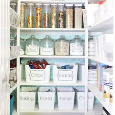 Organize your pantry for less with these dollar store DIY pantry organization ideas. These organizing ideas are perfect for small pantries to help you maximize your space. There are cheap pantry organization and storage ideas for cans, jars, spices, snacks and much more! Organisation Hacks, Storage Hacks, Storage Ideas, Craft Storage, Storage Solutions, Dollar Tree Organization, Dorm Room Organization, Food Pantry Organizing, Organizing Ideas