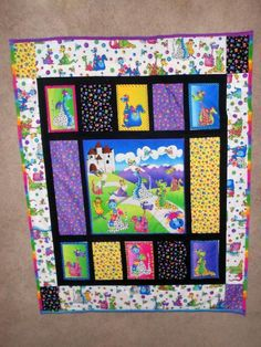 - Quilt --Dragons Quilt for kids/Baby