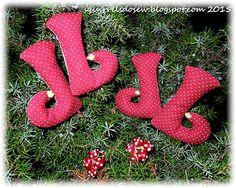 Weihnachts-Spielereien ITH-Stickdateien vom Stickbär, gestickt von unserer Testerin Lotta