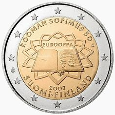 2 euro coins Finland 2007, 50th anniversary of the Treaty of Rome|2 Euro Commemorative Coins