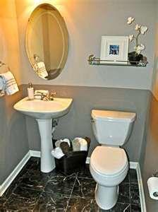 ideas for basement half bath towel mirror over mirror lighting