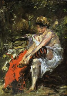 Lovis Corinth, After the Bath, 1906,  Oil on Canvas, Hamburg, Hamburger Kunsthalle