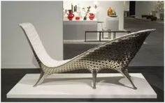 The Joris Laarman chaise at the Friedman Benda booth.