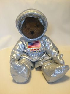 Vintage 1990s Vermont Teddy Bear Co. Astronaut Brown Bear w/ Space Suit #VermontTeddyBear