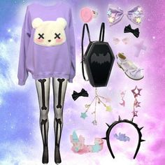 This image is like one of the most popular pastel goth images on the net, featuring my sweatshirt, and has absolutely no credit for the items. Typical.   https://www.etsy.com/listing/113116259/pastel-goth-kawaii-grunge-deaddy-bear?ref=shop_home_active