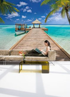 Photo Wall Decal Mural Photography Wallpaper BEACH RESORT, the Maldives, Love Art Wall Decals