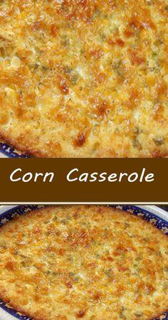 Corn Casserole Corn Recipes, Coconut Recipes, Side Dish Recipes, Vegetable Recipes, Mexican Food Recipes, Corn Dishes, Vegetable Side Dishes, Veggie Casserole