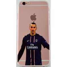 Zlatan Ibrahimovic iPhone 6/s Graphic Image Transparent Cell Phone Protective Case (Ibrahimovic, iPhone 6s)