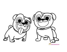 Puppy Dog Pals Coloring Pages Rolly Puppy Dog Pals Birthday Party