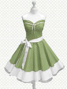 Polka Dots  Petticoats -  rockabilly dress
