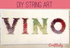 DIY String Art for the Wine-o's :)