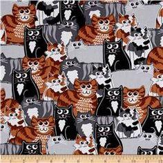 Kanvas Cat Nip Cat Crowd Grey/Brown