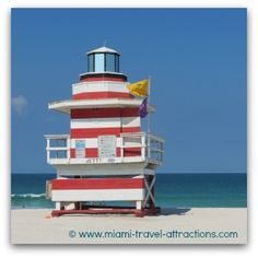 Lifeguard Tower at South Pointe South Beach, Miami Beach, Miami Shores, Miami Art Deco, Beach Lifeguard, Beach Hacks, Downtown Miami, Us Beaches, Great Places