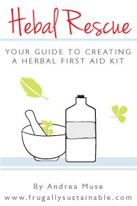 All the recipes you need to make your own herbal first aid kit! Free e-book.
