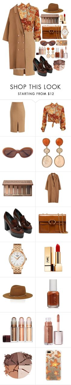 """""""apple picking"""" by themarshmallowmadness ❤ liked on Polyvore featuring MaxMara, Urban Decay, Tory Burch, Tissot, Yves Saint Laurent, Janessa Leone, Essie, lilah b. and Casetify"""