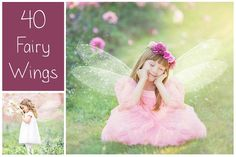40 Fairy Wings PS Overlays by LovePhotoMoment on @creativemarket