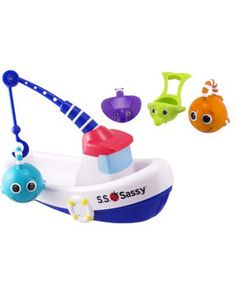 """Lure"" kids into the bath with this fun fishing game! Click above to buy it."