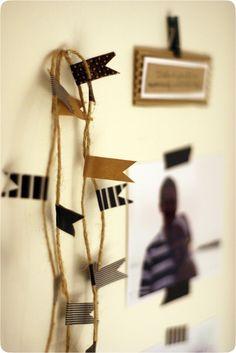 washi tape and strin