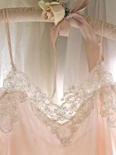 vintage pale pink, lace, ribbon and rose Lingerie Look, Jolie Lingerie, Pretty Lingerie, Blush Lingerie, French Lingerie, Luxury Lingerie, Vintage Lingerie, Shades Of Peach, Peach Blush