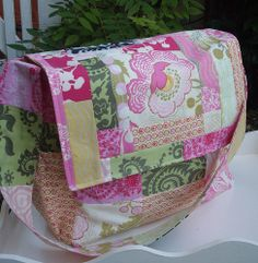 custom patchwork diaper bag