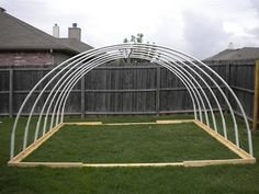12 x 13 PVC Vegetable Greenhouse Frame Pvc Greenhouse Plans, Greenhouse Frame, Backyard Greenhouse, Small Greenhouse, Pvc Canopy, Backyard Canopy, Garden Canopy, Canopy Outdoor, Beach Canopy
