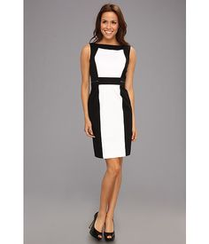 c621f490955a Tahari by asl s l color block cotton dress with zipper details at 6pm.com