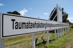 The longest name of a place in the world called Taumatawhakatangihangakoauauotamateaturipukakapikimaungahoronukupokaiwhenuakitanatahu (New Zealand)February locals call Taumata Weird Town Names, Places Ive Been, Places To Go, Curious Facts, Place Names, History Books, World Traveler, Best Funny Pictures, New Zealand