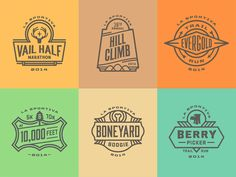 2014 run for a series of trail-running events in Vail, CO I worked on over at Anthem Branding.