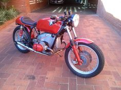 Franz's very first cafe racer