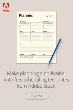 Try free homeschooling, activity planning and scheduling assets with help from Adobe Stock. Passion Planner, Happy Planner, The Plan, How To Plan, Planner Organization, Organizing, Daily Planner Pages, Printable Planner, Printables